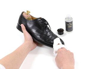 革靴、ワックス等の汚れ落し(ツヤ革専用汚れ落し)BootBlackブートブラックレザーローション100ml(日本製)コロンブス《BootBlack》正規取扱店