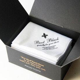 ハイシャイン仕上げに最適な目の細かい綿クロスBoot Black ブートブラック ポリッシュクロス(日本製)コロンブス《Boot Black》正規取扱店