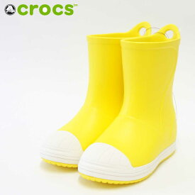 crocs クロックス crocs bump it boot kids クロックス バンプ イット ブーツ キッズ203515 イエロー(キッズ)軽量・快適クッションのレインブーツ「靴」