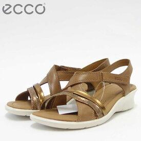 ECCO エコー 216513 Cashmere/Bronze快適な履き心地のバックストラップサンダル天然皮革コンフォートサンダル(レディース)「靴」