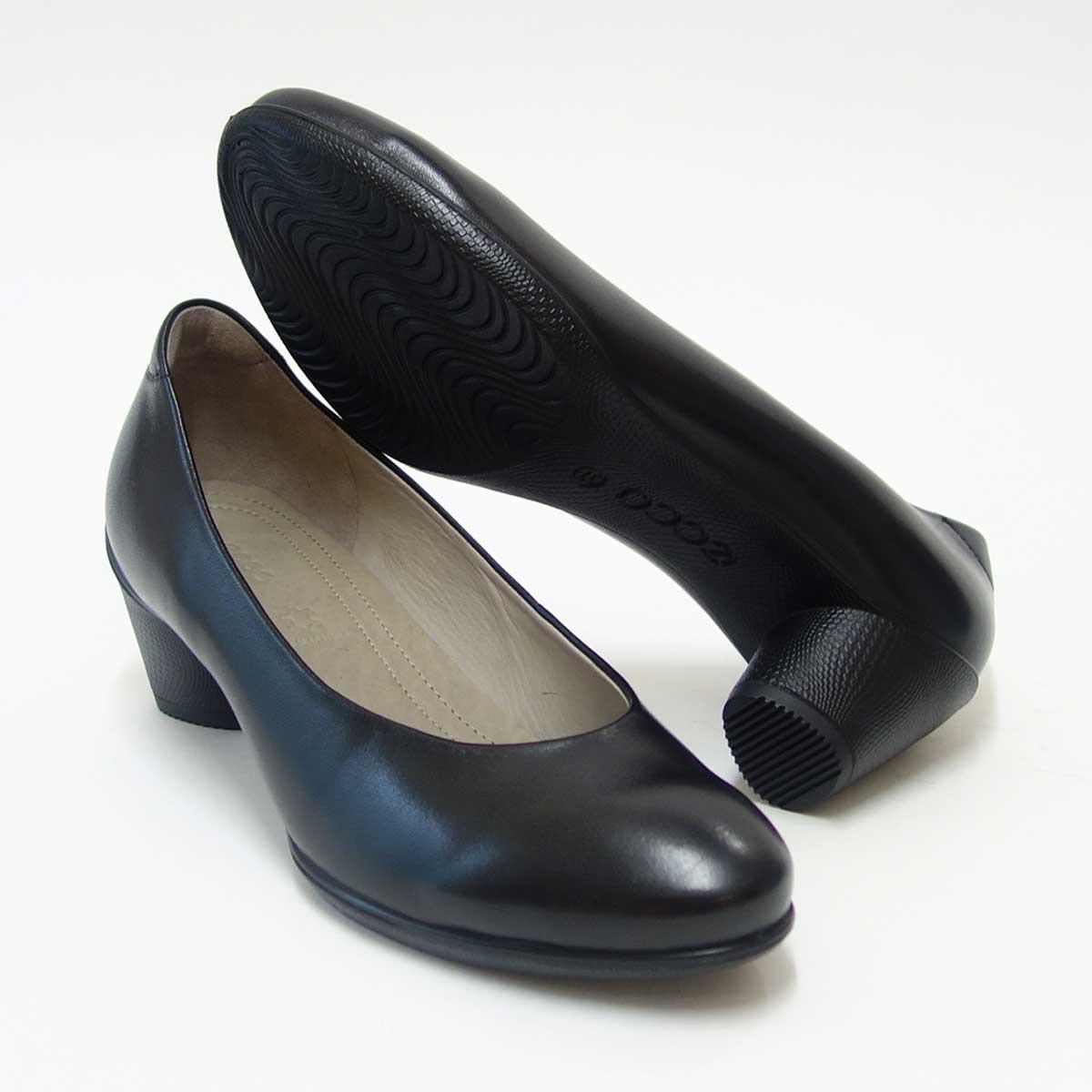 ECCO エコー 230203 ブラック (レディース)快適な履き心地のパンプスお洒落カジュアル&ウォーキング天然皮革コンフォートシューズ「靴」