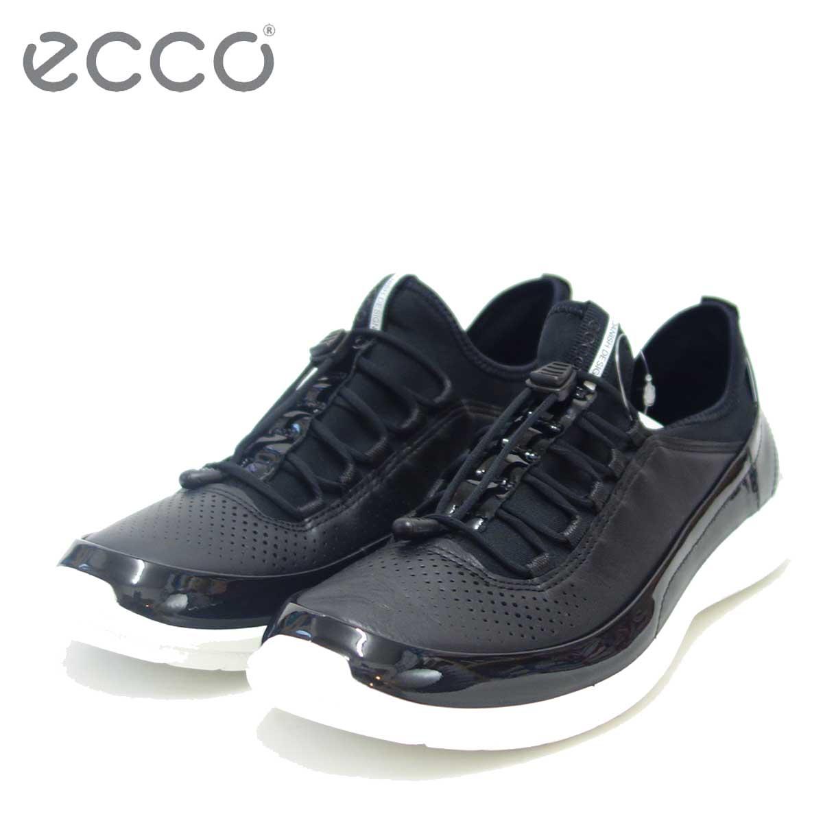 ECCO エコー 283013 ブラック (レディース)快適な履き心地のレースアップシューズ天然皮革コンフォートシューズ「靴」