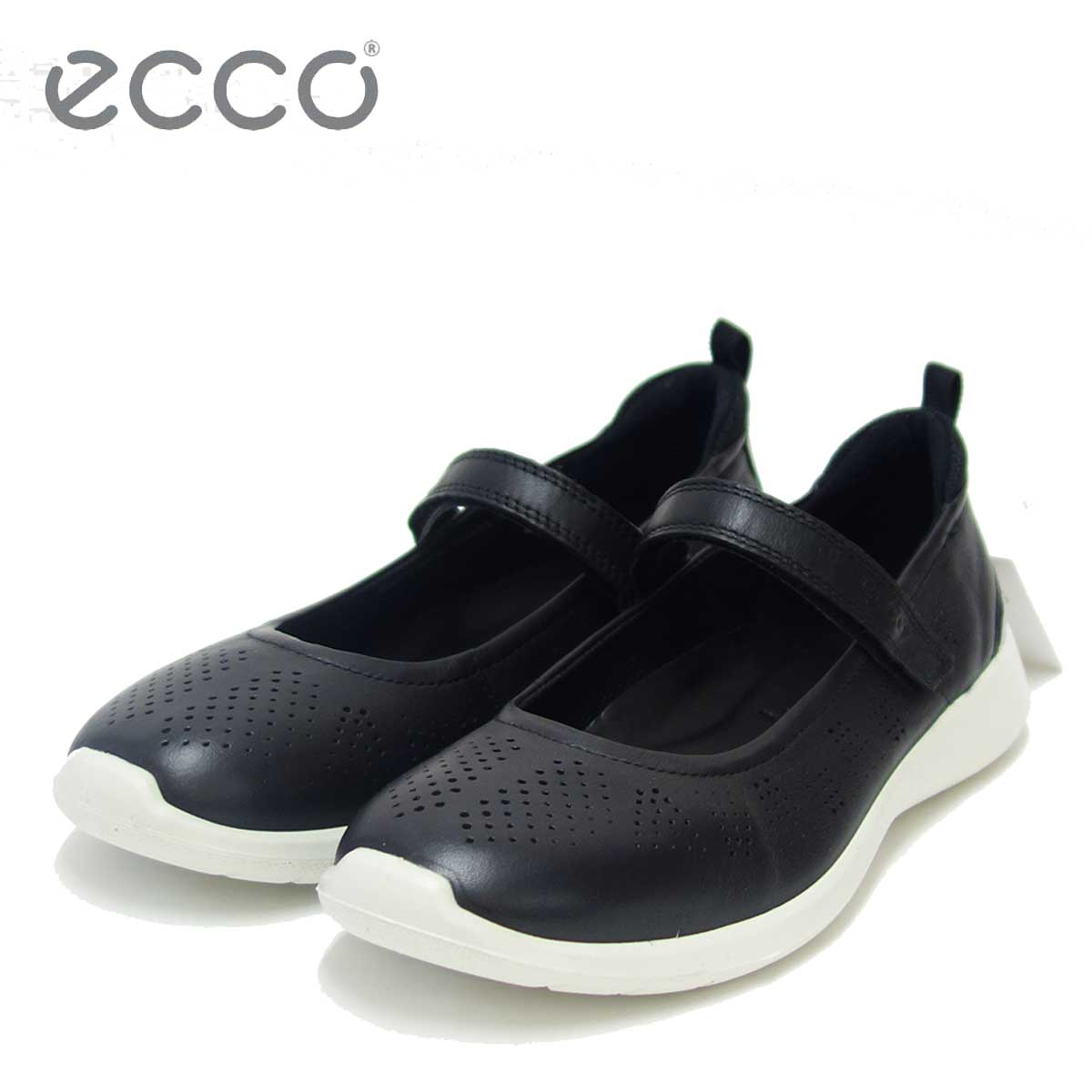 ECCO エコー 283043 ブラック(レディース)快適な履き心地のバレエシューズ天然皮革コンフォートシューズ「靴」