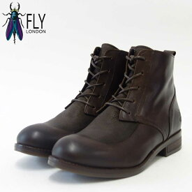 FLY LONDON フライロンドンARTY077FLY 144077 ダークブラウンポルトガル製レースアップブーツ「靴」