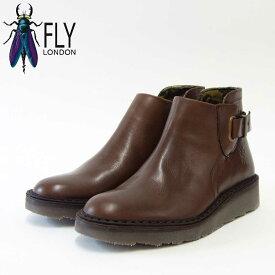 FLY LONDON フライロンドンAMIE954FLY 210954 ダークブラウンポルトガル製アンクルブーツ「靴」