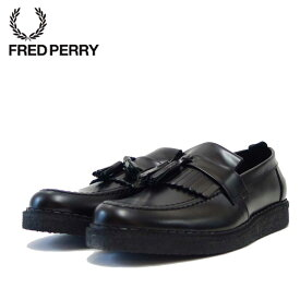 フレッドペリー FRED PERRY B58278 102(ユニセックス)Fred Perry George Cox Tassel Loafer Leather カラー:BLACK「靴」