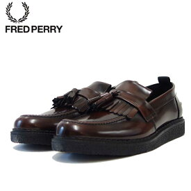 フレッドペリー FRED PERRY B58278 158(ユニセックス)Fred Perry George Cox Tassel Loafer Leather カラー:OXBLOOD「靴」