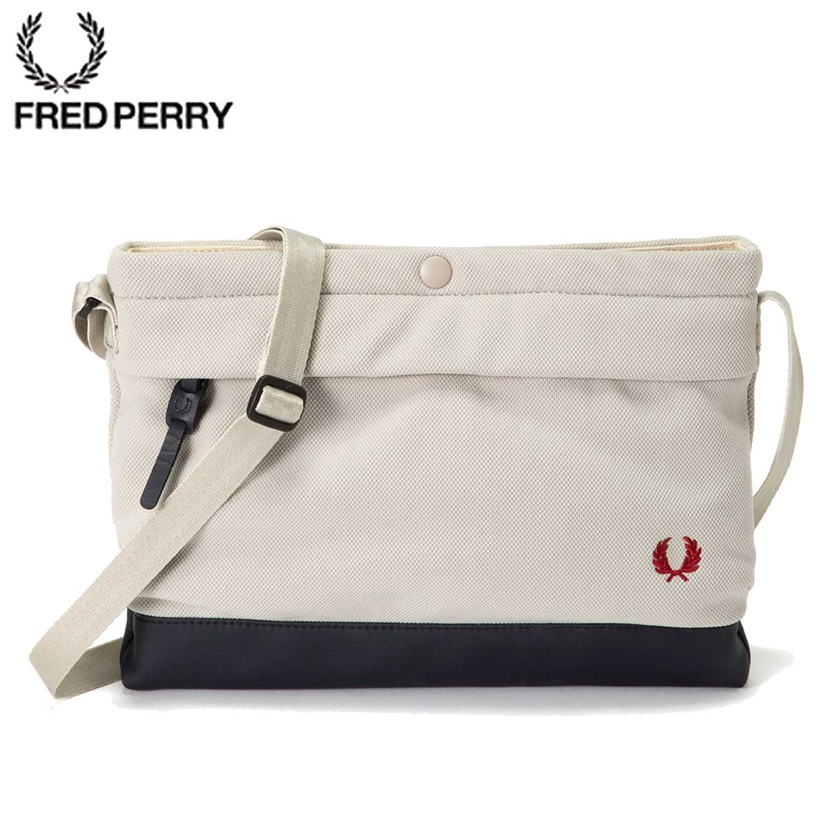 FRED PERRY フレッドペリー Pique Sacoche Bag F9543 24(OYSTER)