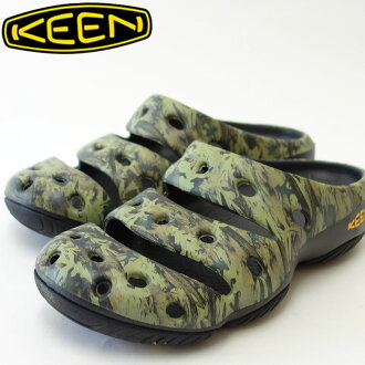 "KEEN基恩Yogui Arts 1002034(男子)基恩独特的轻量、放松椰子彩色:Camo Green鞋鞋""鞋""000"