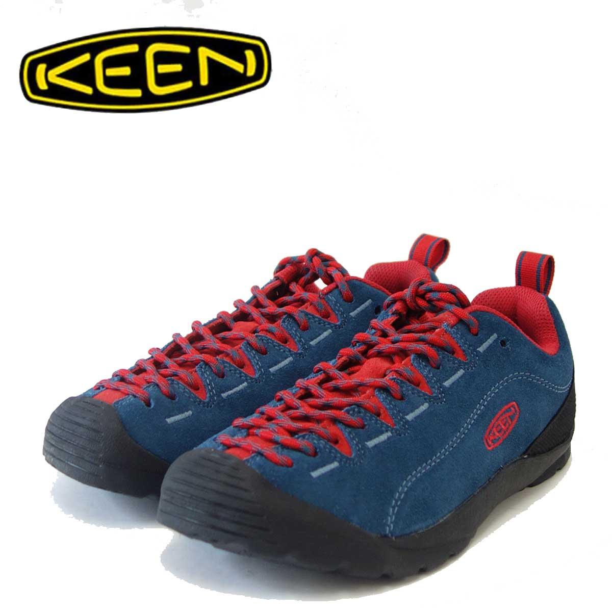 KEEN キーン JASPER ジャスパー 1017364(ウィメンズ)カラー:Legion Blue / True Red コンフォートラストのクライミングデザイン「靴」