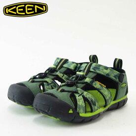 KEEN キーン KIDS Seacamp 2 cnx 1018113(キッズ)1018109 シーキャンプツーシーエヌエックスカラー:DUCK GREEN / GREENERY「靴」