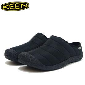 【ポイント15倍(要エントリー)スーパーSALE期間】キーン KEEN ハウザー スライド 1021622 ブラック(メンズ) ソフトで暖かみのあるリラックスサボ 「靴」