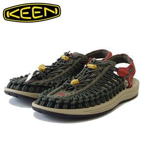 KEEN キーン UNEEK(ユニーク) 1025171(メンズ) カラー:Forest Night / Red Dahlia スニーカー サンダル「靴」