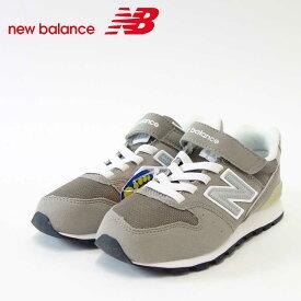 new balance ニューバランス KV996 CWY グレー(キッズ)細身のスリムフィット「靴」