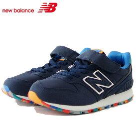 ニューバランス new balance YV996MNV ネイビー マーブル(キッズ) マジックテープ スニーカー「靴」