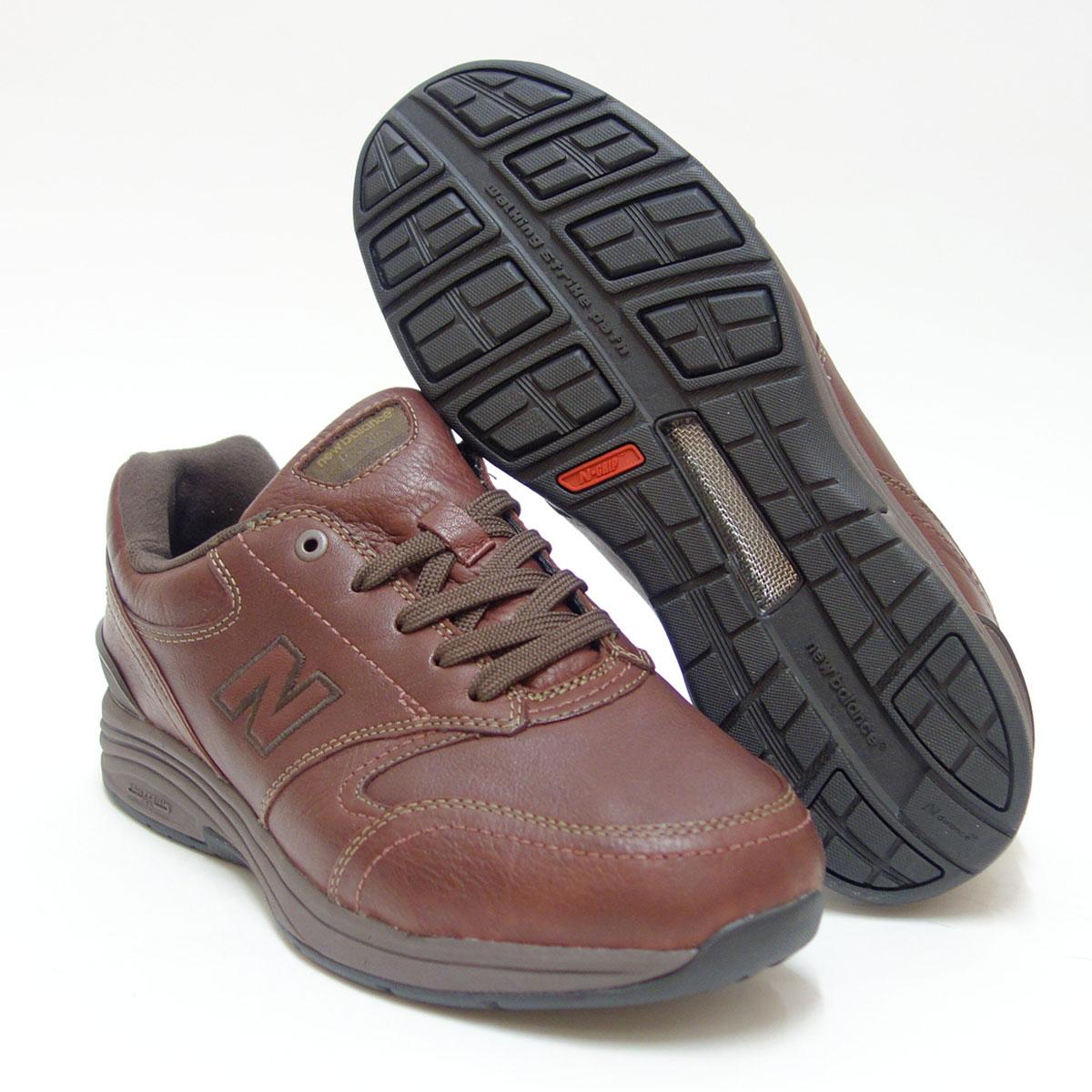 超ゆったりウォーキングシューズnew balance ニューバランス MW585 ウッドブラウン(メンズ)6E幅旅行などに最適、天然皮革・防水仕様「靴」 父の日 ギフト
