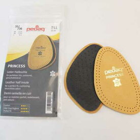 《メール便可》pedag ペダッグ レザー1/2(プリンセス) ハーフインソール(つま先用) 靴 シューズ