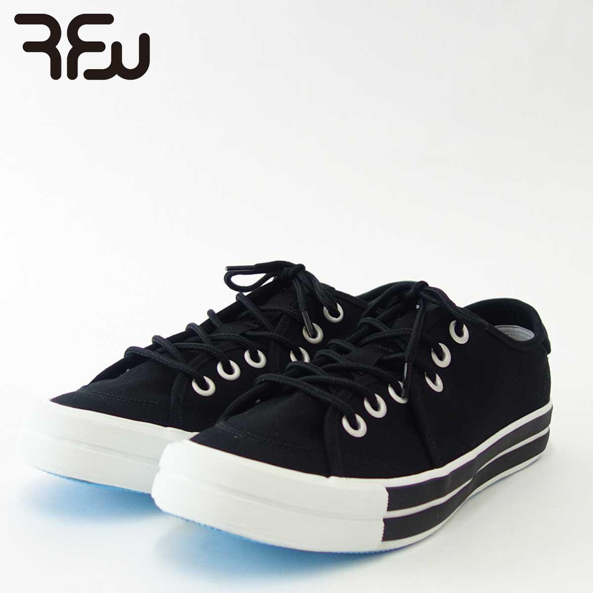 RFW アールエフダブリュー BAGEL-LO STANDARD(ユニセックス)1812011 カラー:ブラック キャンバスのローカットスニーカー 「靴」
