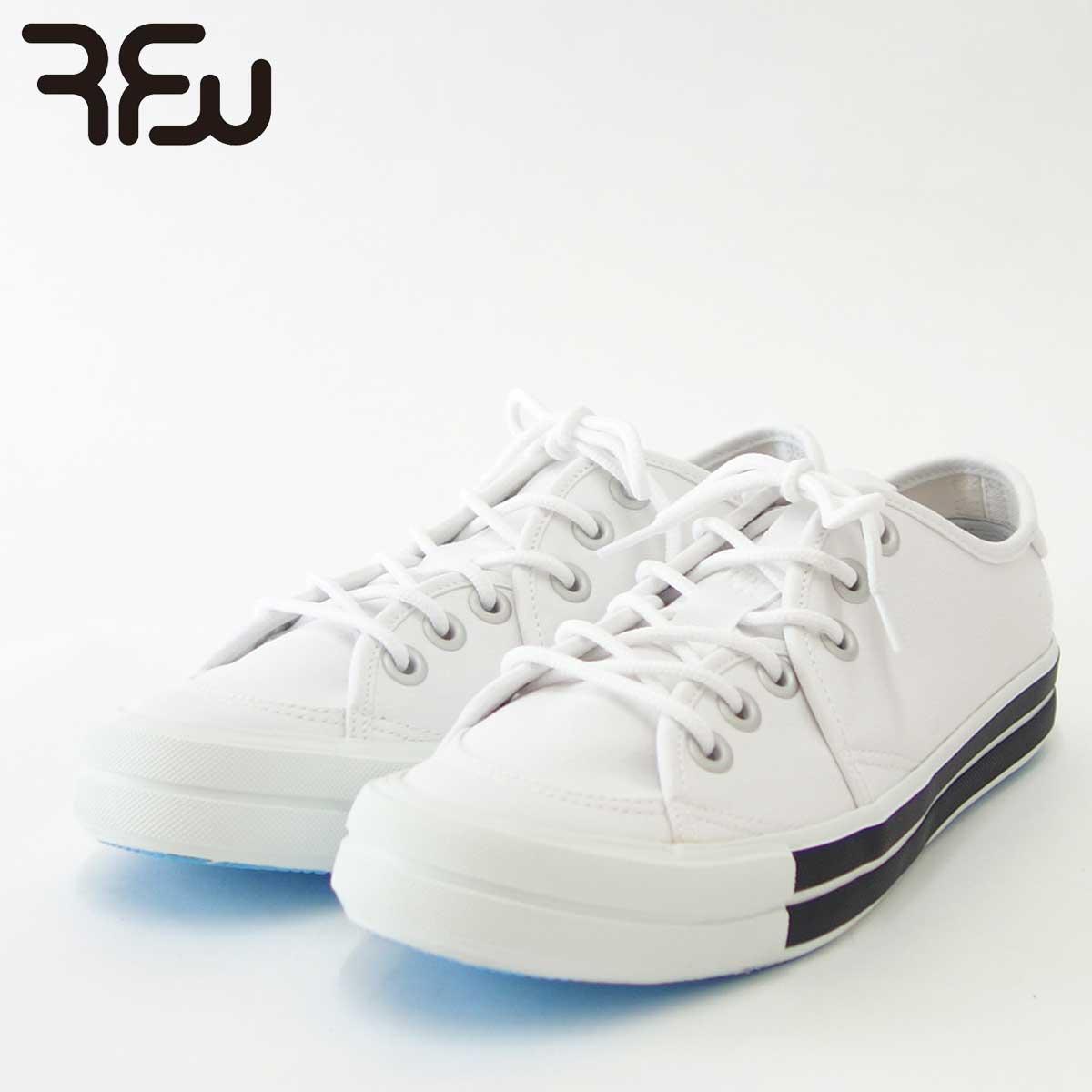 RFW アールエフダブリュー BAGEL-LO STANDARD(ユニセックス)1812011 カラー:ホワイト キャンバスのローカットスニーカー 「靴」