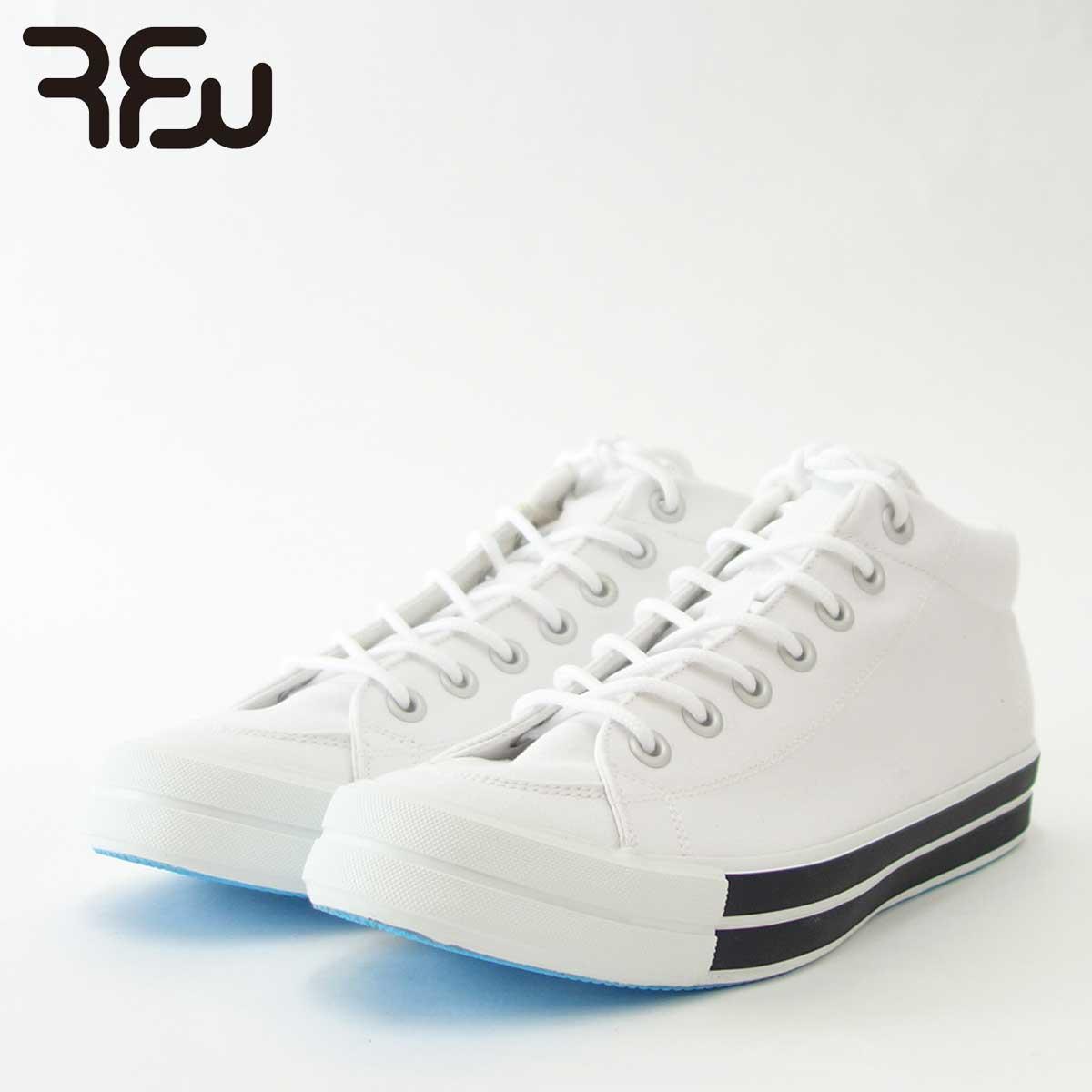 RFW アールエフダブリュー BAGEL-MID STANDARD(ユニセックス)1812031 カラー:ホワイト キャンバスのミッドカットスニーカー 「靴」