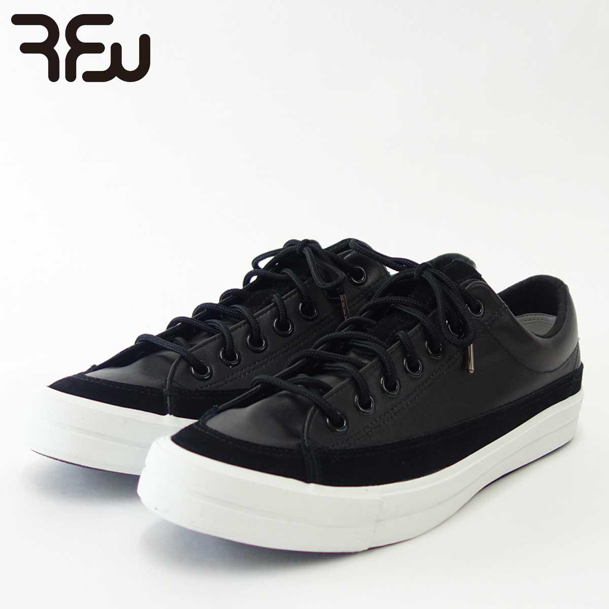 RFW アールエフダブリュー BAGEL-LO LEATHER(ユニセックス)1812252 カラー:ブラック 天然皮革のローカットスニーカー 「靴」