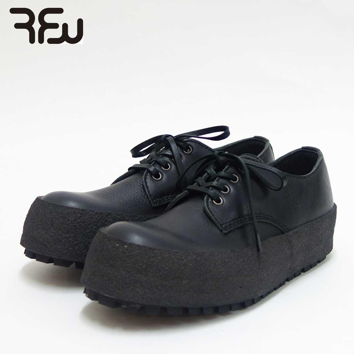 RFW アールエフダブリュー DECCO LO LEATHER(メンズ)1819162 カラー:ブラック 天然皮革のレースアップシューズ「靴」
