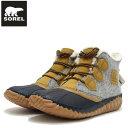 ソレル SOREL NL 3150(レディース) アウトアンドアバウトプラス:Quarry (052) 防水レザー ラバーソール 全天候型アンクルブーツ「靴」
