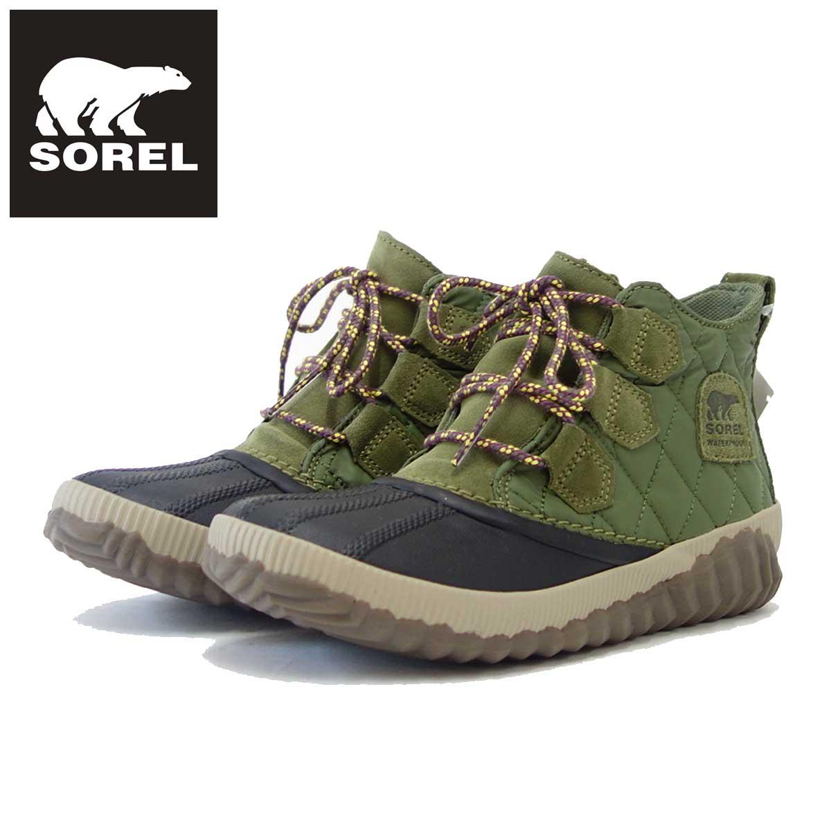 ソレル SOREL NL 3152(レディース) アウトアンドアバウト 2 キャンプ:グリーン (371) 保温性・撥水性抜群の快適ウィンターブーツ 「靴」