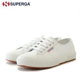 スペルガ SUPERGA 2750 NAPLNGCOTU(ユニセックス)White (S8115BW) 風合いの良い天然皮革スニーカー 「靴」
