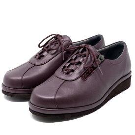asics pedala アシックス ペダラ ウォーキングシューズ 4E ファスナー付き 本革 日本製 WPM466 旅行 通勤 靴 レディース 婦人靴 Mワイン