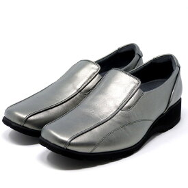 asics pedala アシックス ペダラ ウォーキングシューズ スリッポン 4E 本革 日本製 1212A003 旅行 通勤 靴 レディース 婦人靴 ダークグレー