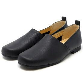 ENあしながおじさん フラットシューズ やわらかい 5360077 靴 レディース 婦人靴 ブラック