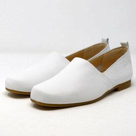 ENあしながおじさん フラットシューズ やわらかい 5360077 靴 レディース 婦人靴 ホワイト