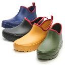 送料無料 超軽量発泡レディースブーツ 婦人長靴 レインブーツ 完全防水 CalcerOne L-4 ガーデンブーツ ショートブーツ 3E 履きやすい 22.5-25.0cm