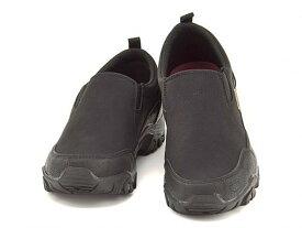 エドウィン EDWIN 防水 雨 雪 モック カジュアル ウォーキング スリッポン スニーカー メンズ サイドゴア クッション 靴 トラベル アウトドア EDWIN EDM-9802 ブラック