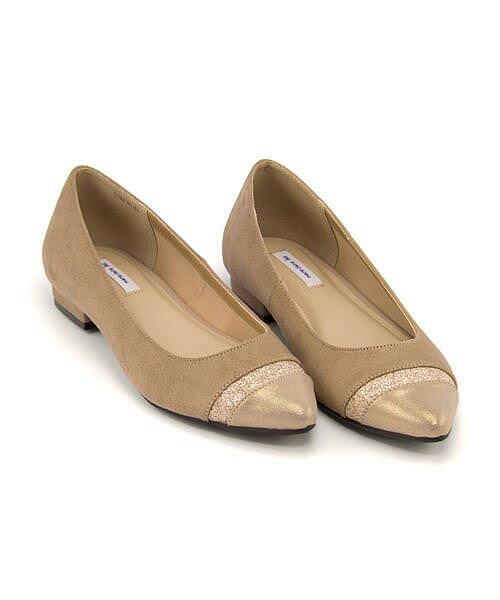 マリ・クレール ビス カッター パンプス 痛くない ローヒール 歩きやすい 疲れない レディース 限定モデル 切り替えフラット クッション性 屈曲性 美脚 カジュアル デイリー トレンド オフィス ビジネス フォーマル ドレス marie claire bis 177003 ベージュ