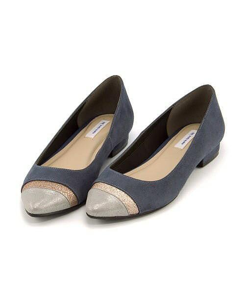 マリ・クレール ビス カッター パンプス 痛くない ローヒール 歩きやすい 疲れない レディース 限定モデル 切り替えフラット クッション性 屈曲性 美脚 カジュアル デイリー トレンド オフィス ビジネス フォーマル ドレス marie claire bis 177003 ライトブルー