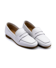 ローファー ヒール 痛くない 歩きやすい 疲れにくい レディース ソフトレザー クッション性 美脚 カジュアル デイリー トレンド エンあしながおじさん ENあしながおじさん 5360209 ホワイト