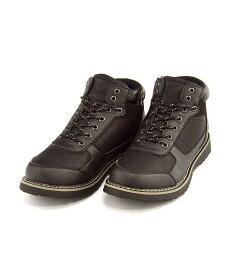 アウトドアブーツ ウィンターブーツ メンズ サイドジップ クッション性 防水 防滑 雨 雪 靴 カジュアル デイリー トラベル レジャー トレッキング カムデンロード CAMDEN ROAD 170920 ブラック