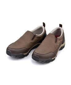 エドウィン スリッポン モックスニーカー メンズ クッション性 防水 雨 雪 靴 カジュアル デイリー トラベル ウォーキング EDWIN EDM-8802 ダークブラウン