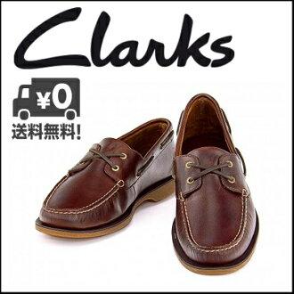 克拉克甲板鞋皮革人Clarks鍵端口QUAY PORT 20343110紅木皮革