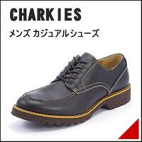 CHARKIES(チャーキーズ)メンズカジュアルシューズ101606ブラック