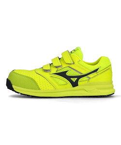 ミズノ mizuno オールマイティLS222L ALMIGHTY LS 2 22L イエロー/ダークグレー メンズ プロテクティブ スニーカー 作業靴 つま先保護芯 軽量 クッション性 3E 幅広 カジュアル デイリー スポーツ ウォ
