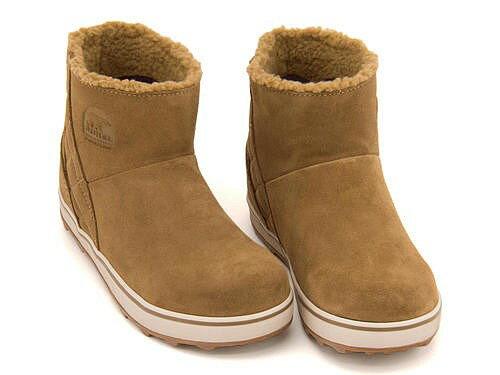 ソレル ウィンターブーツ ボアブーツ 長靴 レディース グレイシー ショート 防水 防滑 雨 雪 靴 カジュアル デイリー トラベル アウトドア GLACY SHORT SOREL LL5195 カレッジネイビー/ノクターナル