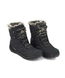 コロンビア スノーブーツ レディース ミンクスショーティ3 内ボア あったか 保温 クッション性 防水 雨 雪 靴 美脚 カジュアル デイリー トラベル アウトドア MINX SHORTY 3 Columbia BL5961 ブラック/ペブル
