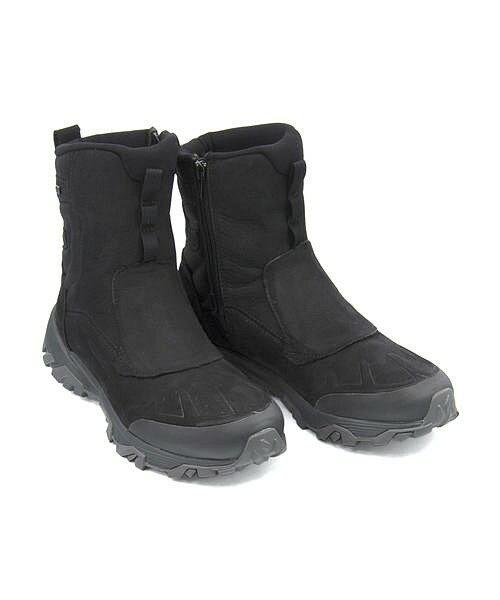 メレル ウィンターブーツ メンズ コールドパックアイス+8ジップポーラーウォータープルーフ クッション性 防水 雨 雪 靴 カジュアル デイリー トラベル アウトドア COLDPACK ICE+ 8 ZIP POLAR WATERPROOF MERRELL J92025 ブラック