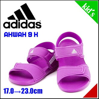 Adidas girls boys kids child shoes Sport Sandals Velcro Akwa AKWAH 9 K adidas B39856 Flash pink / running white / Flash pink
