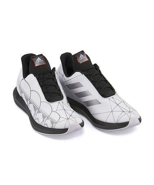 アディダス ランニングシューズ スニーカー 女の子 男の子 キッズ 子供靴 通学靴 運動靴 スター ウォーズ ラピダラン K 通気性 クッション性 抗菌 STAR WARS RAPIDARUN K adidas CQ0125 ランニングホワイト/コアブラック/スカーレット