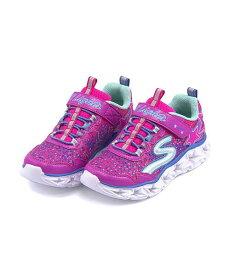 スケッチャーズ 光る靴 スニーカー 女の子 キッズ 子供靴 運動靴 通学靴 Sライトギャラクシーライト ゴム紐 ストラップ クッション性 カジュアル デイリー スポーツ スクール 学校 S LIGHTS-GALAXY LIGHTS SKECHERS 10920L ネオン/ピンク/マルチ
