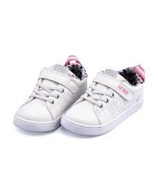 ローカット スニーカー 女の子 キッズ 子供靴 運動靴 通学靴 ゴム紐 ストラップ 軽量 クッション性 屈曲性 カジュアル デイリー スポーツ スクール 学校 イフミー IFME 22-9090 ホワイト